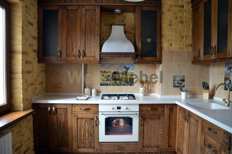 Кухни из дерева на заказ