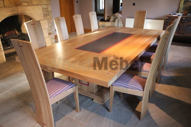 Oak Dining Table With 9 Chairs - Столы из дерева под заказ