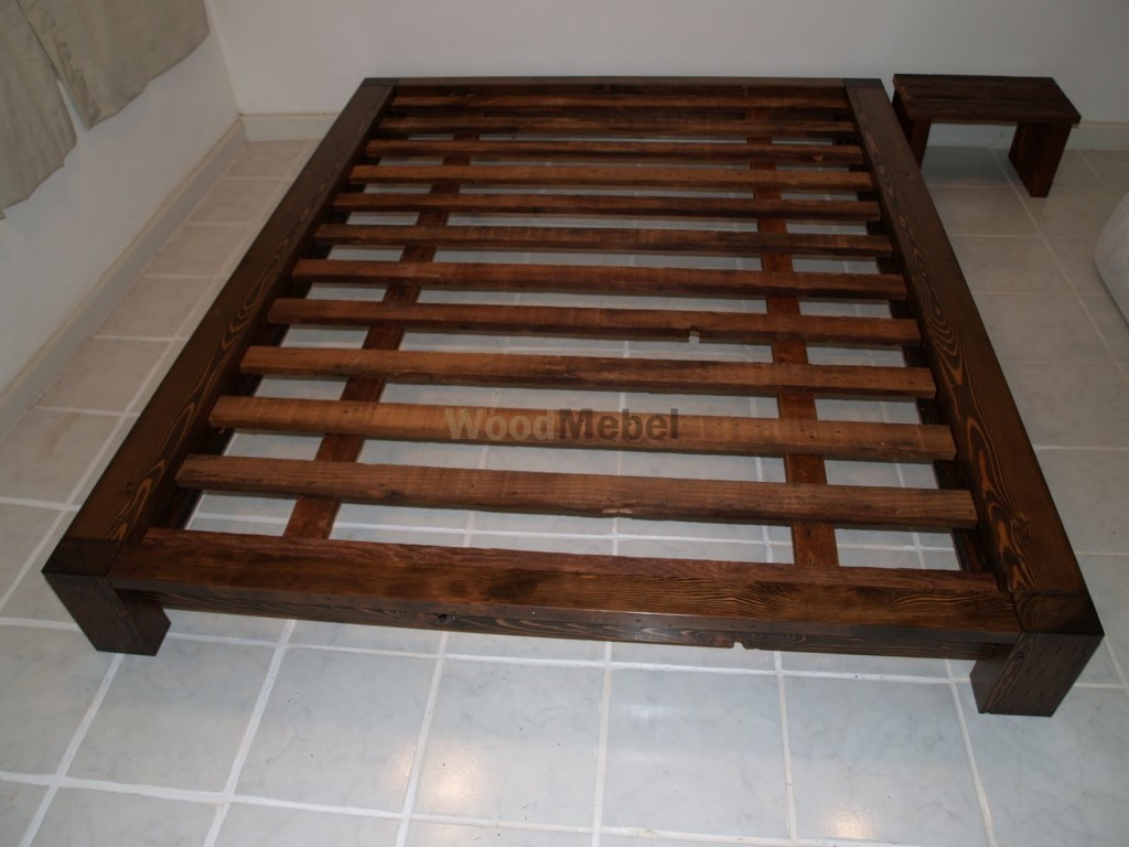 Queen Size Bed Frame Beds Made From Solid Wood 1024x768 - Кровати из дерева на заказ Киев
