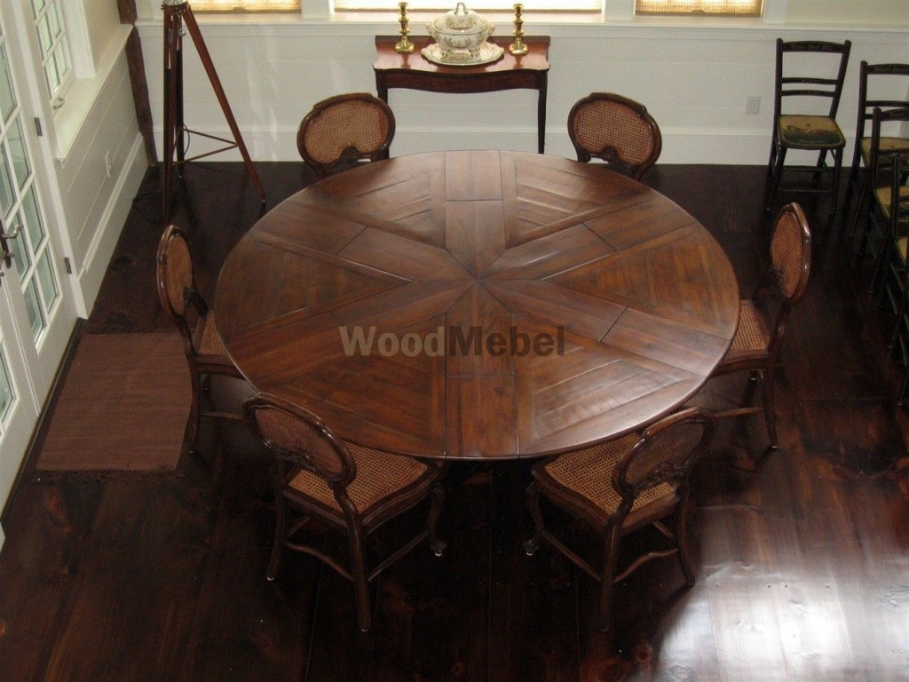 round expandable wood dining tables ebcbdd 1024x768 - Столы из дерева под заказ