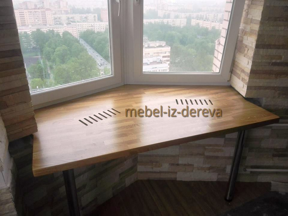 Podokonnik iz dereva 11 - Подоконник из дерева на заказ