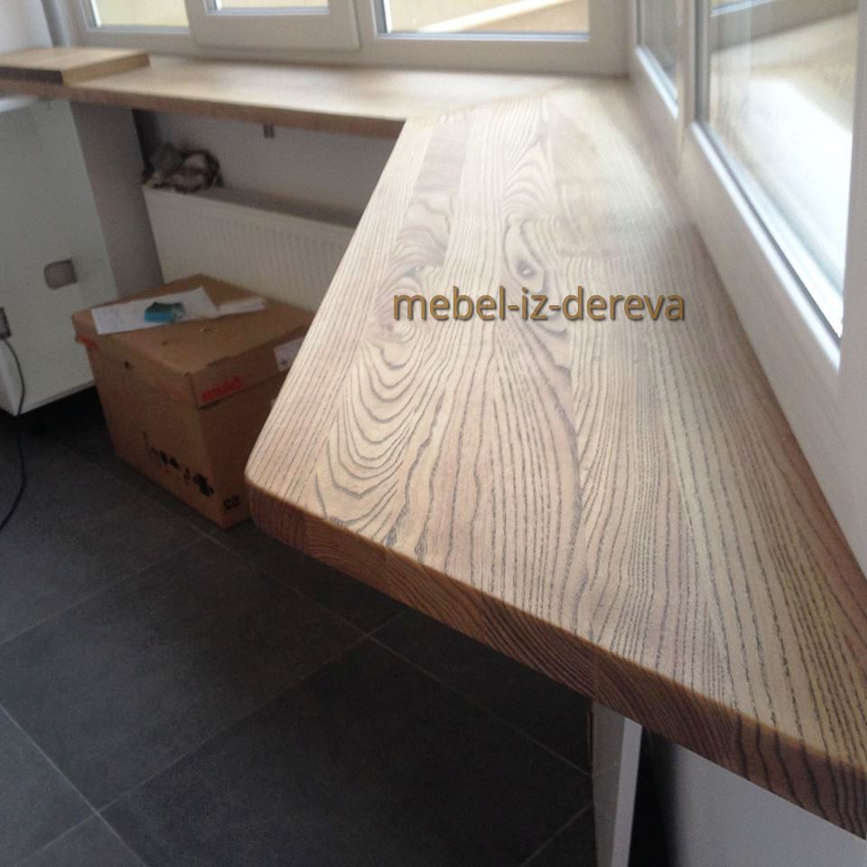 Podokonnik iz dereva 12 - Подоконник из дерева на заказ