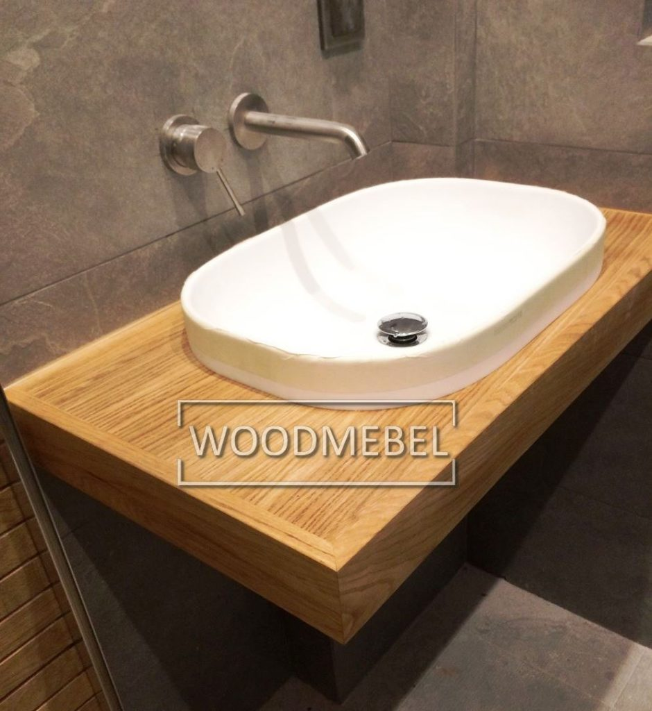 Деревянная тумба в ванную под заказ