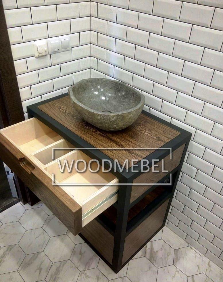 Столешницы из дерева в Ванную под заказ